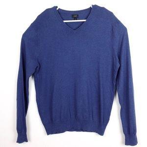 J Crew Men's V Neck Cotton Cashmere Sweater M-N396